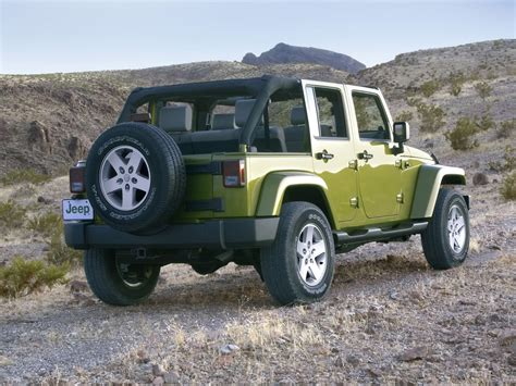 Jeep Wrangler Green Green Jeep Wrangler Rear View Desktop Wallpaper