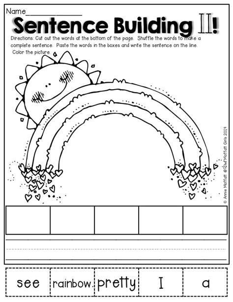 Kindergarten Sentence Building Worksheets by Best 25 Sentence Building Ideas On
