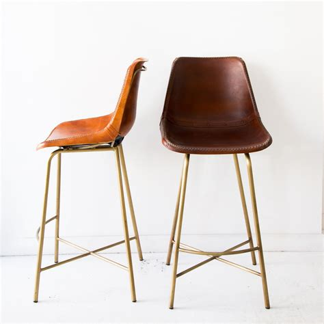 Style Bar Stools by A Saloon Style Bar Stool Made Of Whip Stitched