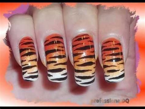 tiger pattern nail art sexy tiger nail art youtube