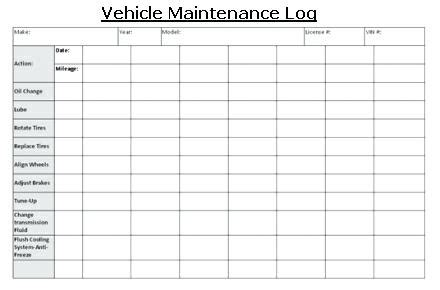 Car Maintenance Log Fleet Vehicle Maintenance Log Vehicle Maintenance Log Car Maintenance Log Fleet Maintenance Template