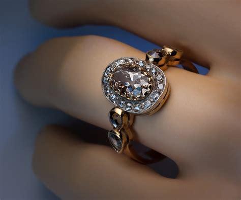 fancy color antique engagement rings antique