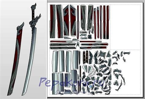 Papercraft Swords - yasuo sword pdo papercraft swords