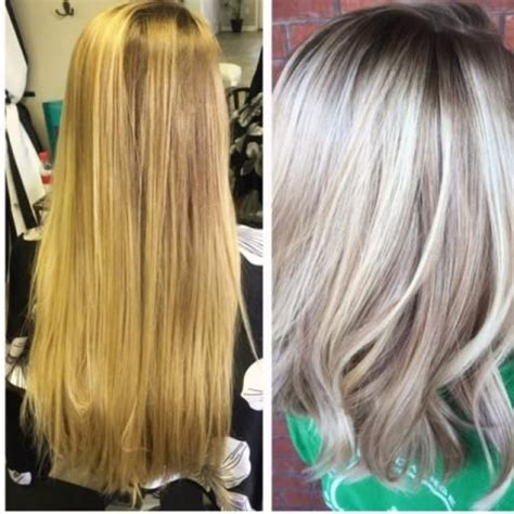 ash glaze hair color makeover 3 steps to an icy blonde hair color paint