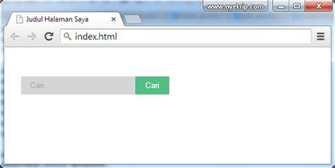 membuat kotak html cara membuat kotak pencarian search html css nyekrip