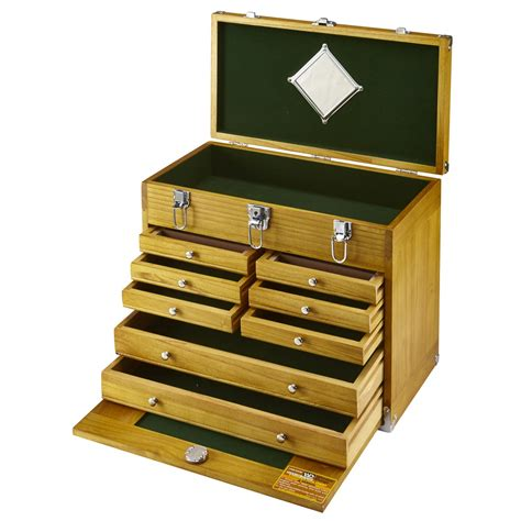 8 drawer wood tool chest