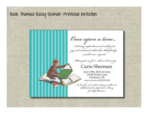 Curious George Baby Shower Invitations by Curious George Baby Shower Card