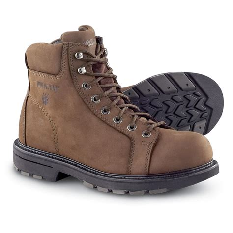 s wolverine 174 lace to toe boots brown 18 work boots