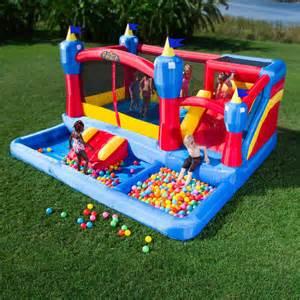bounce house water park backyard outdoor slides