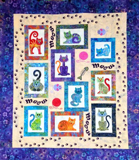 Cat Quilt Kits by Cat S Meow Fabric Quilt Kit