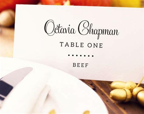 Wedding Place Card With Meal Choice Template Editable Meal Option Place Card Custom Meal Card Template