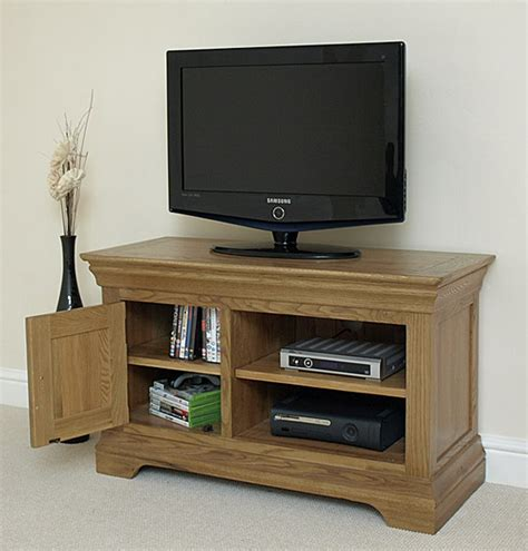 small armoire for tv french rustic solid oak small tv dvd hi fi cabinet