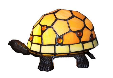stained glass turtle l amber turtle tiffany leadlight art deco stained glass