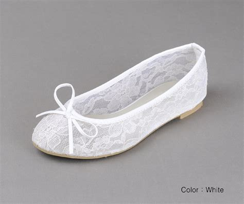White Lace Flats For Wedding by White Lace Ballet Flat Wedding Things