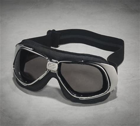Harley Davidson Motorradbrille by Fighter Retro Silver Flash Performance Goggles Goggles