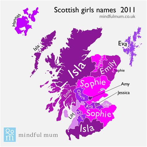 scottish names scottish names map mindful