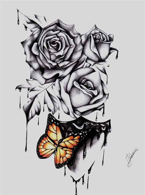 roses tattoo design by carolinajibbondonati on deviantart