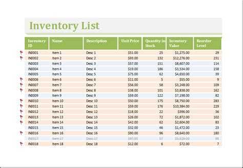 financial asset inventory sheet inventory worksheet template for excel excel templates