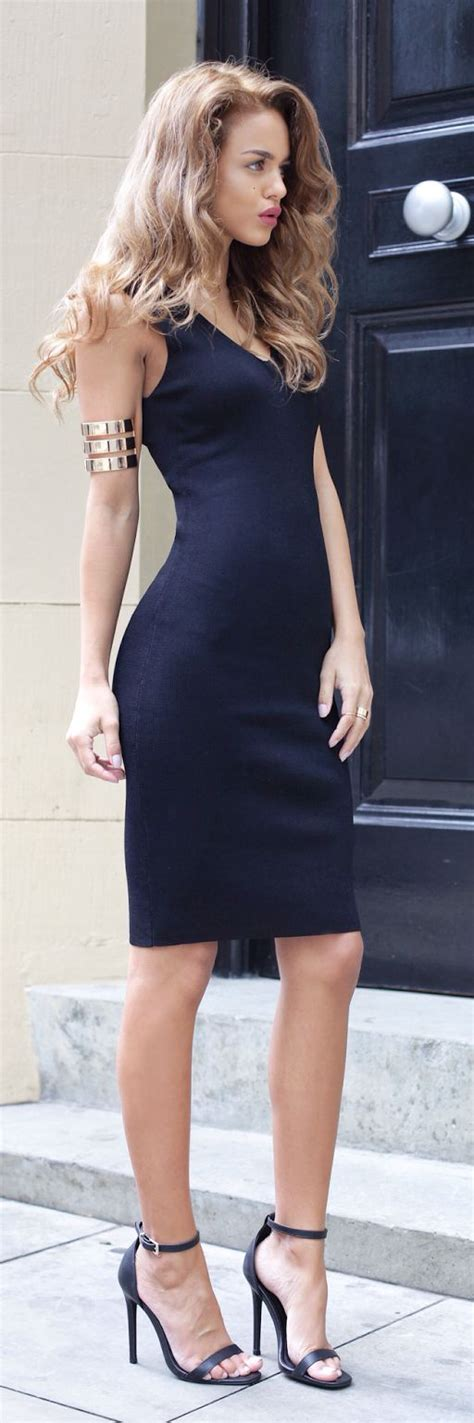 in high heels and dresses classic style tight dresses and high heels on