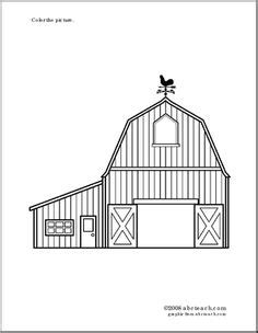 91 barn coloring pages with animals clip art of a pics for gt simple barn outline