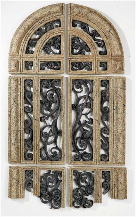 arch shaped wall decor xl world cathedral ruins arched wall decor set 6