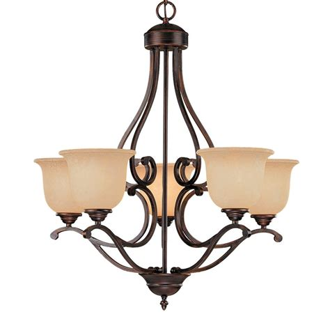 Rubbed Bronze Lighting by Shop Millennium Lighting Lakes 5 Light Rubbed