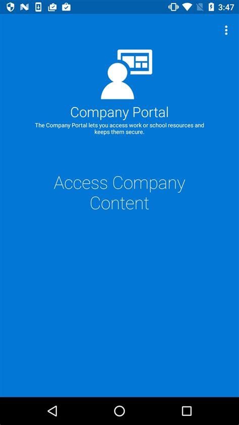 android company new android company portal workflow microsoft intune support team