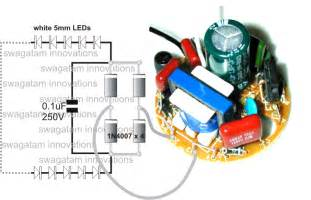 led light bulb circuit converting a dead cfl into an led tubelight circuit idea
