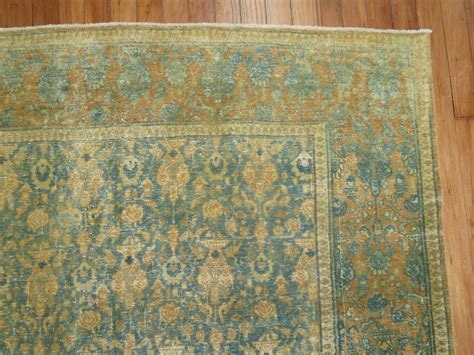 shabby rugs shabby chic antique tabriz rug for sale at 1stdibs