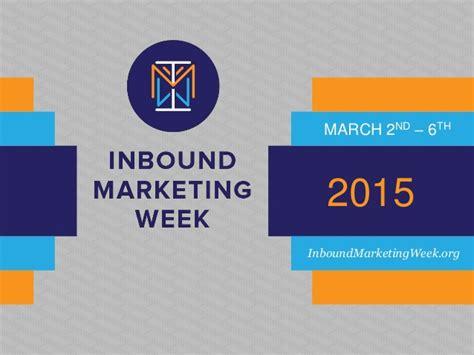 inbound marketing day 2015 inbound marketing week 2015 imw15