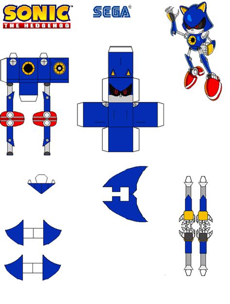 Sonic The Hedgehog Paper Crafts - image gallery sonic papercraft