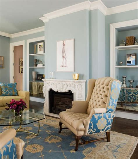 blue walls in living room decorating with beige and blue ideas and inspiration