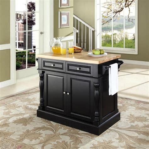 black kitchen island with butcher block top oxford black butcher block top kitchen island