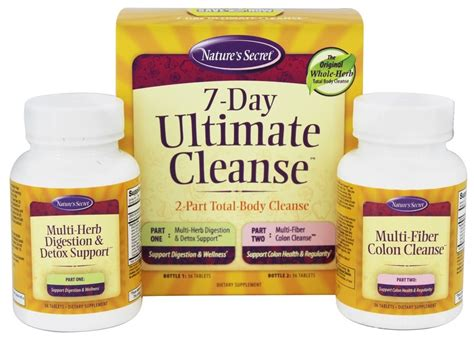 Ultimate Detox And Cleanse by Buy Nature S Secret 7 Day Ultimate Cleanse 72 Tablets
