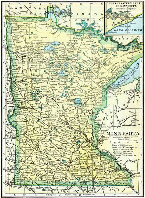 Access Records Mn 1910 Minnesota Census Map Access Genealogy