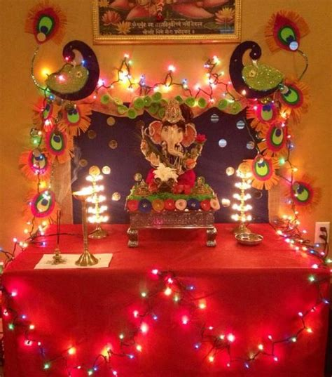 home decoration of ganesh festival ganesh chaturthi decoration ideas ganesh pooja decor