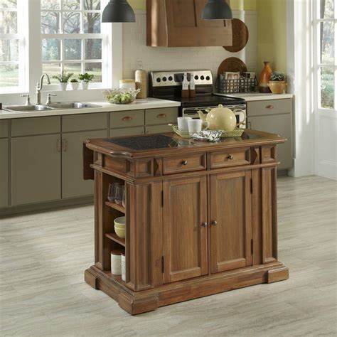 Kitchen Island Vintage Home Styles Americana Vintage Kitchen Island With Storage 5000 94 The Home Depot
