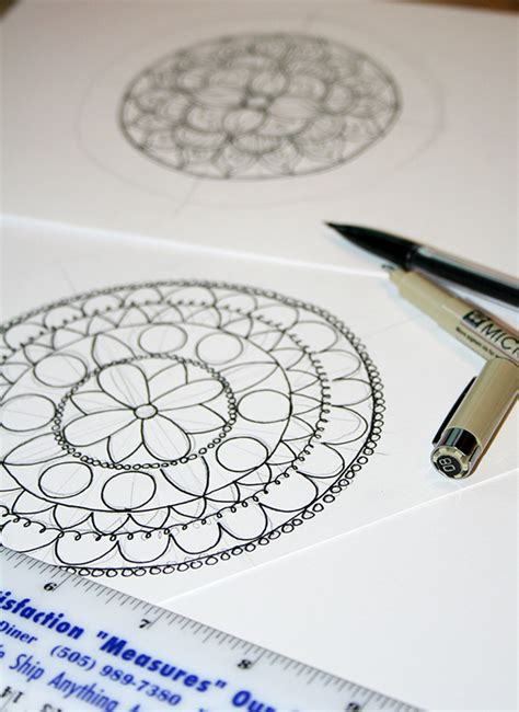 Cool Things To Draw Advanced by How To Draw A Mandala With Free Coloring Pages