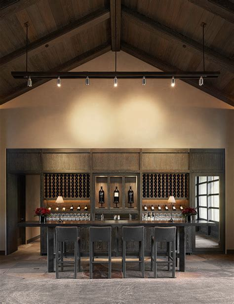 Home Wine Tasting Room Design Kenzo Estate Tasting Room Contemporary Home Bar San