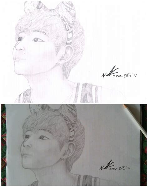 V Drawing Bts Easy bts v by n4ero on deviantart