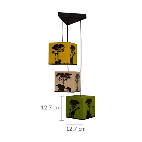 3 In 1 Pendant Lighting Shady Ideas Jungle Mania 3 In 1 Led Ceiling Pendant Light