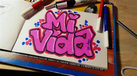 imagenes de amor para mi novio en graffiti como hacer un graffiti de amor mi vida speed drawing