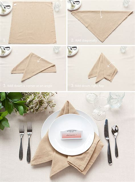 Table Napkin Origami - table setting tips 3 basic napkin folds table settings
