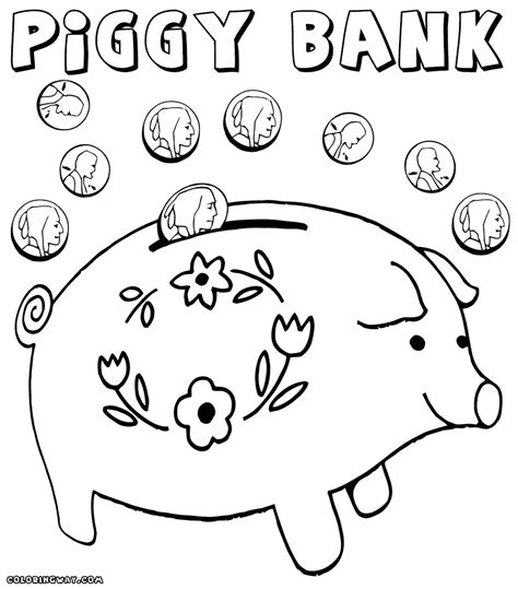 bank coloring pages printable bank best free coloring pages