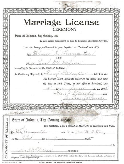 Indiana State Library Marriage Records Indiana Marriage Certificatedating Free