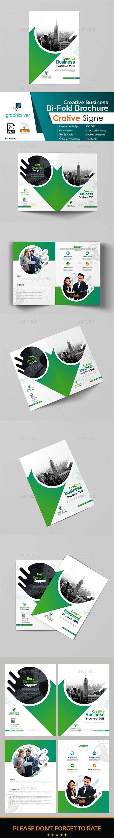 bi fold brochure template illustrator business bi fold brochure template vector eps ai