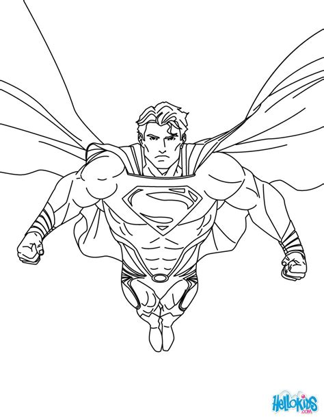 superman coloring page superman printing and drawing coloring pages hellokids