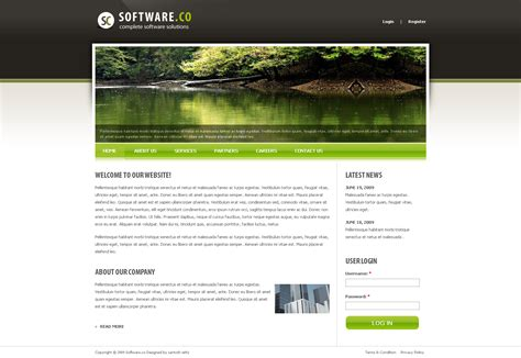 drupal theme user menu software co drupal template by settysantu themeforest
