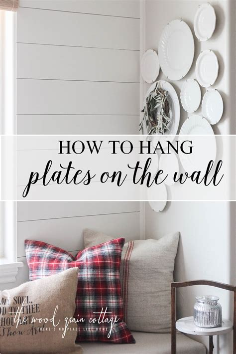 how to hang pictures on a wall how to hang plates on the wall the wood grain cottage