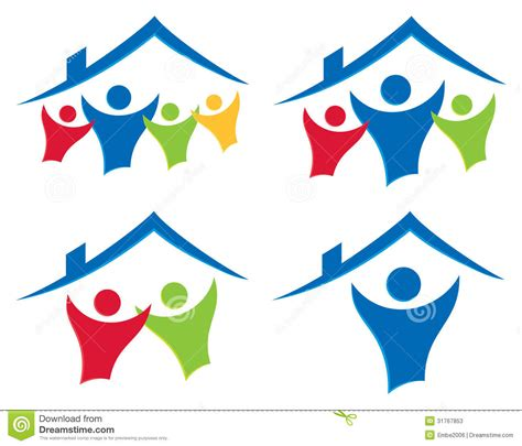 Home Design For Extended Family by People House Logo Set Stock Vector Illustration Of Dwell